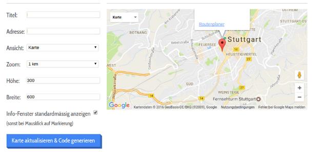 Google Maps Generator