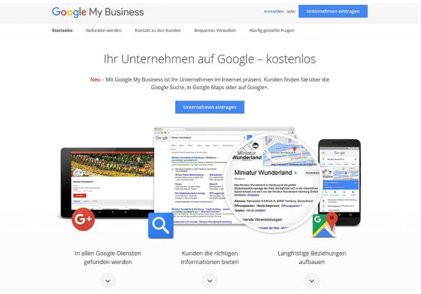 Google My Business für Unternehmen