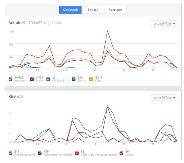 Google My Business Statistiken