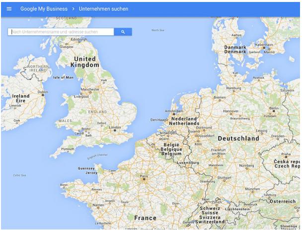 Google My Business Unternehmen suchen